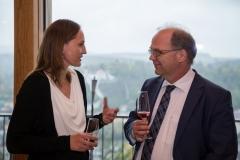 Prof. Dr. Dirk Heckmann im Gespräch mit seinen Gästen (© Preinfalk/Opitz)