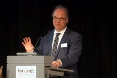 Einleitende Worte von Prof. Dr. Dirk Heckmann, Leiter der Forschungsstelle For..Net (© Robert Geisler)