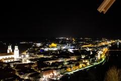 Nächtlicher Blick über Passau (© Patrizia Fenzl)