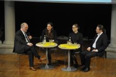 Podiumsdiskussion mit den Referenten und Prof. Dr. Dirk Heckmann (© Robert Geisler)