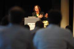 Bundesjustizministerin Leutheusser-Schnarrenberger hielt die Keynote