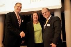 Prof. Dr. Burkhard Freitag,Sabine Leutheusser-Schnarrenberger und Prof. Dr. Dirk Heckmann