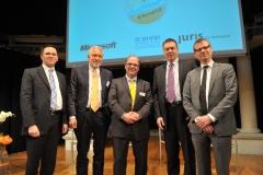 Dr. Phillip W. Brunst, Prof. Andreas Bönte, Prof. Dr. Dirk Heckmann, Matthias Kammer und Dr. Christian Stöcker