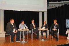 Abschlussdiskussion, Stefan Herwig, Dr. Daniel Slamanig, Florian Albrecht, Prof. Dr. Gerrit Hornung, Prof. Dr. Jan Dirk Roggenkamp